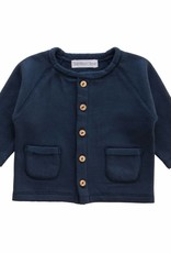 Bamboo & Love  AW17-TP34 JACKET POCKETS C11 - MARINE BLUE SWEATER -20%