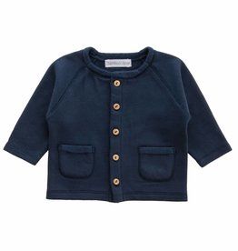 Bamboo & Love  AW17-TP34 JACKET POCKETS C11 - MARINE BLUE SWEATER