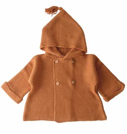 Bamboo & Love  AW17-KJ08 KNIT COAT C21 - CAMEL