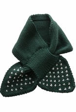 Bamboo & Love   KNIT SCARF PICKLE DOTS C19 - BOTTLE GREEN