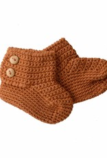 Bamboo & Love  AW17-AC36 KNIT BOOTIES 2 C21 - CAMEL