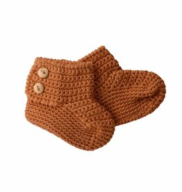 Bamboo & Love  AW17-AC36 KNIT BOOTIES 2 C21 - CAMEL -50%