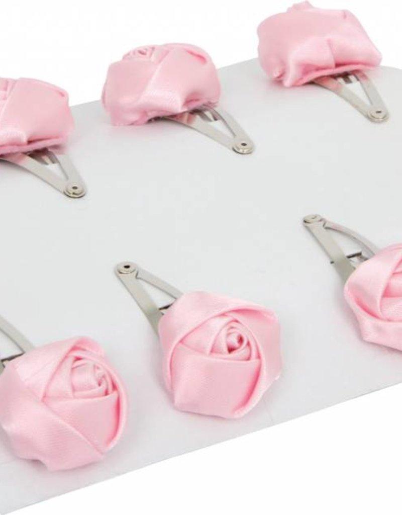 6977-Haarspelden roze roosjes