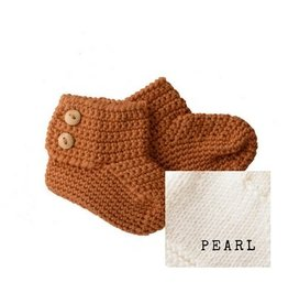 Bamboo & Love  AW17-AC36 KNIT BOOTIES 2 C22 - PEARL