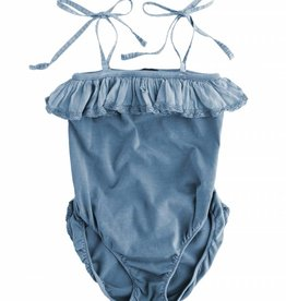 Tocoto Vintage Girl bathing suit Blue