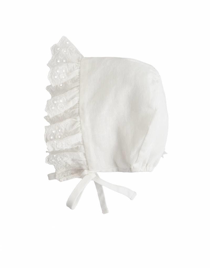 Tocoto Vintage Cap + lace white