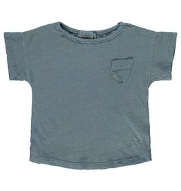 Tocoto Vintage T-Shirt with pocket Blue