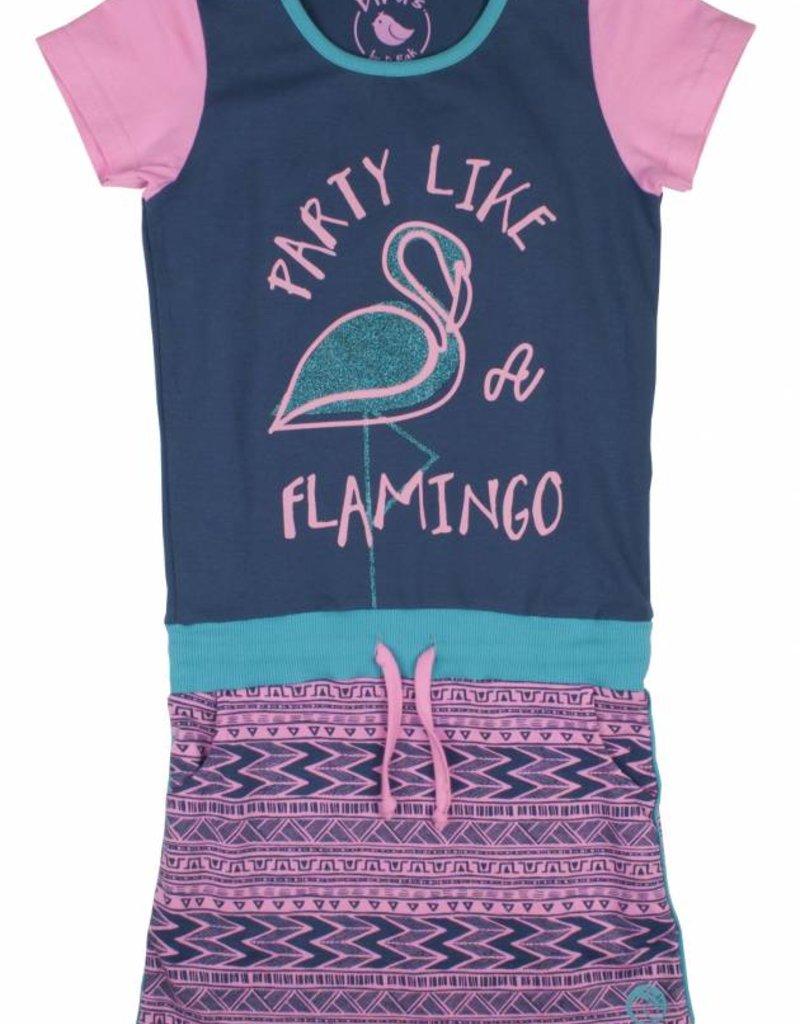 Birds Dress Flamingo