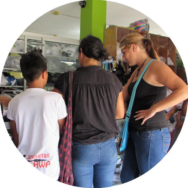 Buying school uniforms Ecuador