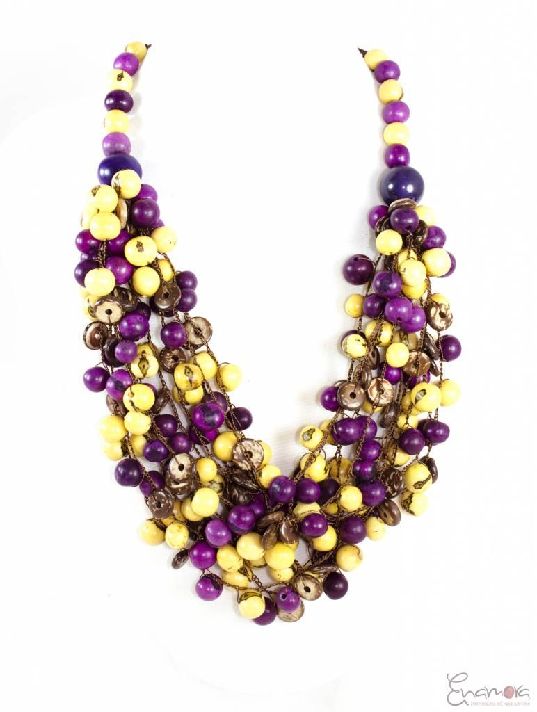 Enamora Acai seeds and Coconut Necklace