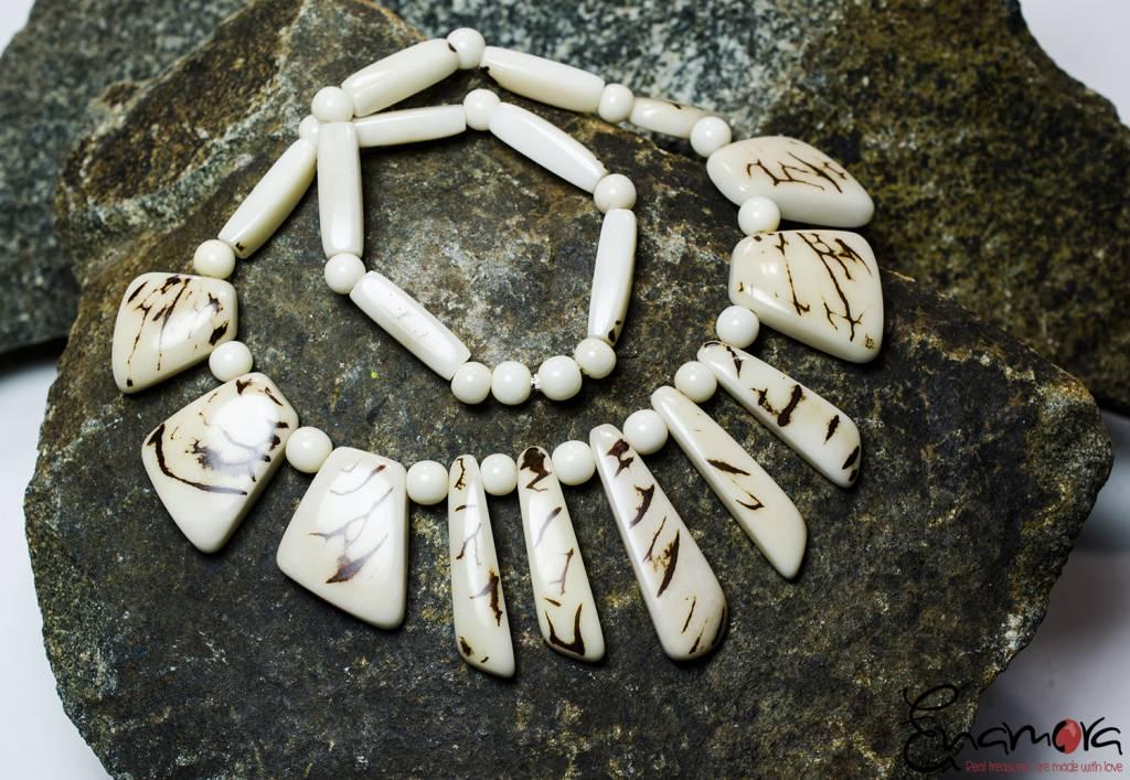 Enamora Organische tagua sieraden set
