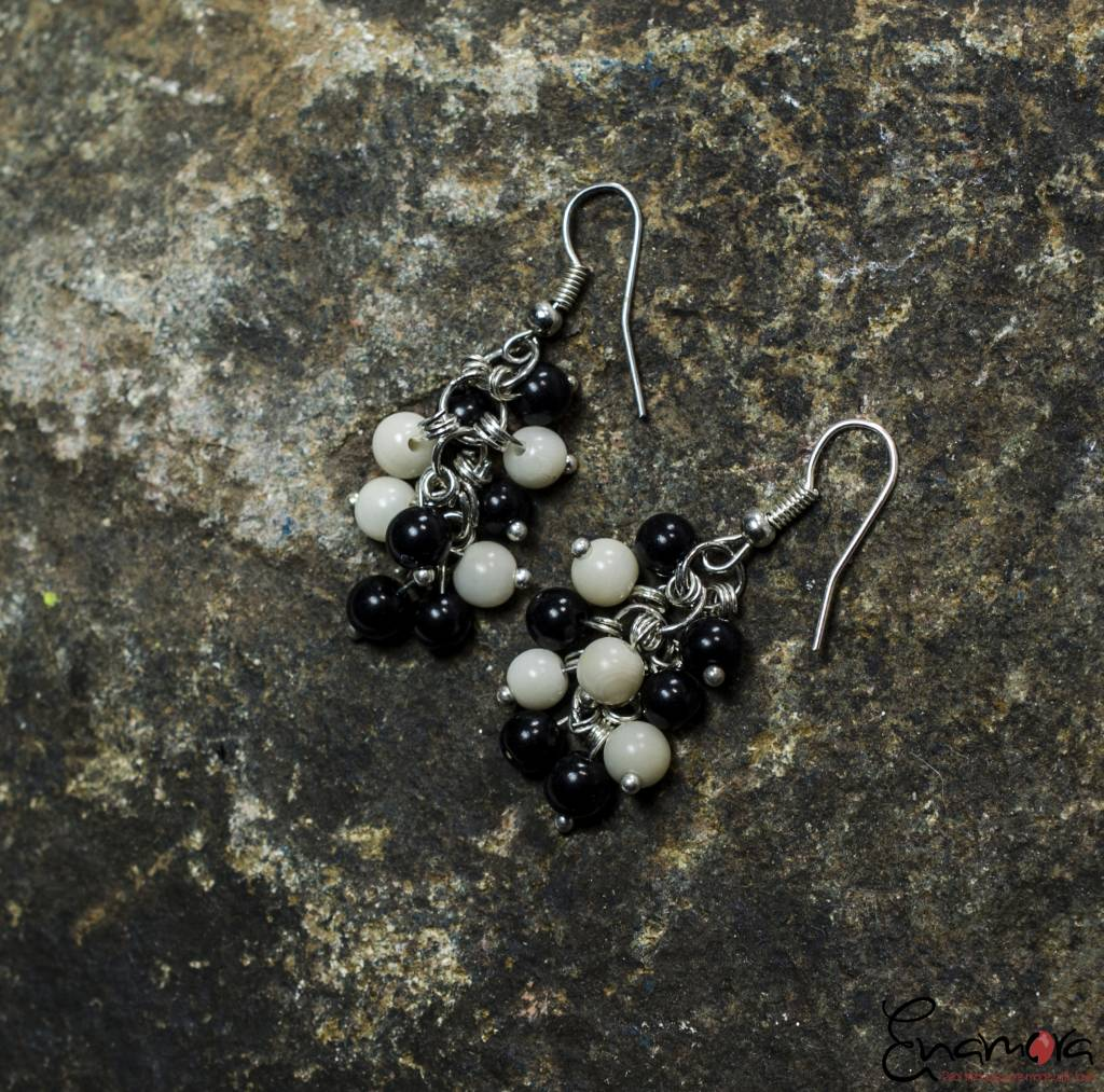 Enamora Black and White Tagua pearls jewelry