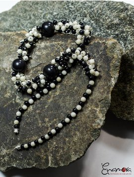 Enamora Black and White Tagua pearls jewelry