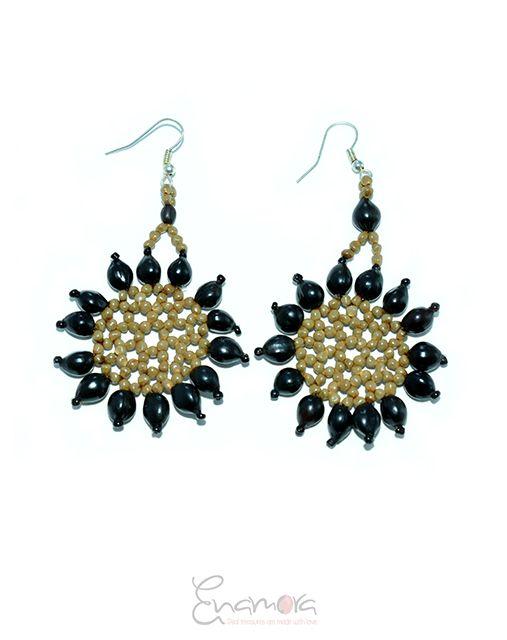 Enamora Black Seed Flower Earrings