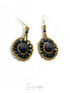 Enamora Rainforest seed earrings