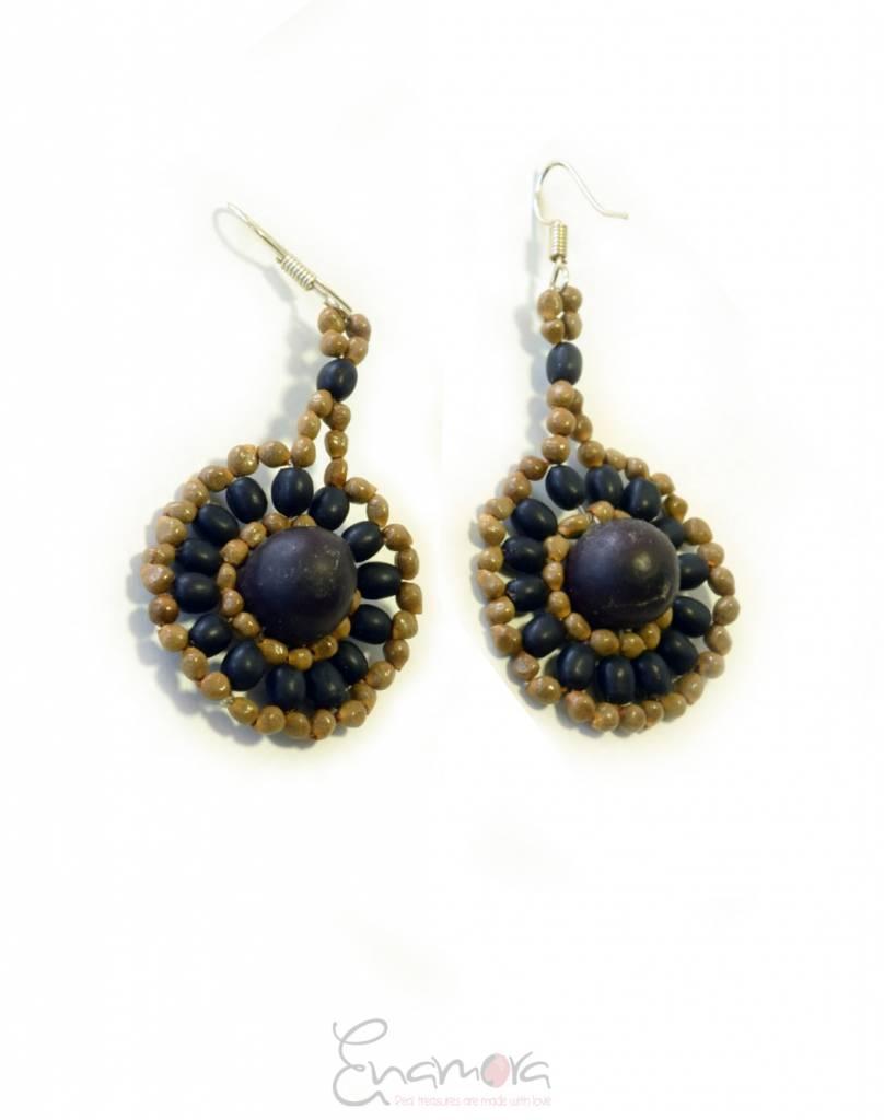 Enamora Rainforest seed earrings