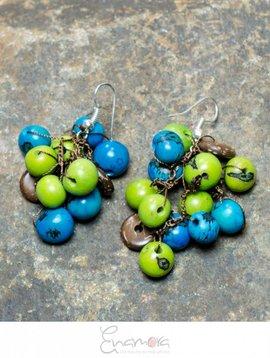 Enamora Colored Acai Seeds Earrings