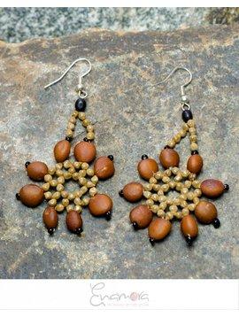 Enamora Shades of Brown Earrings