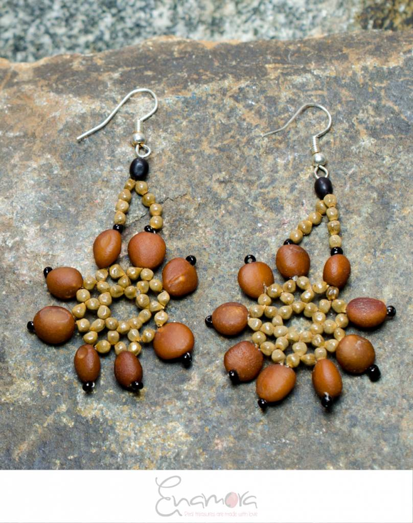 Enamora Shades of Brown Earrings