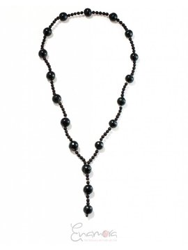 Enamora Black beaded necklace