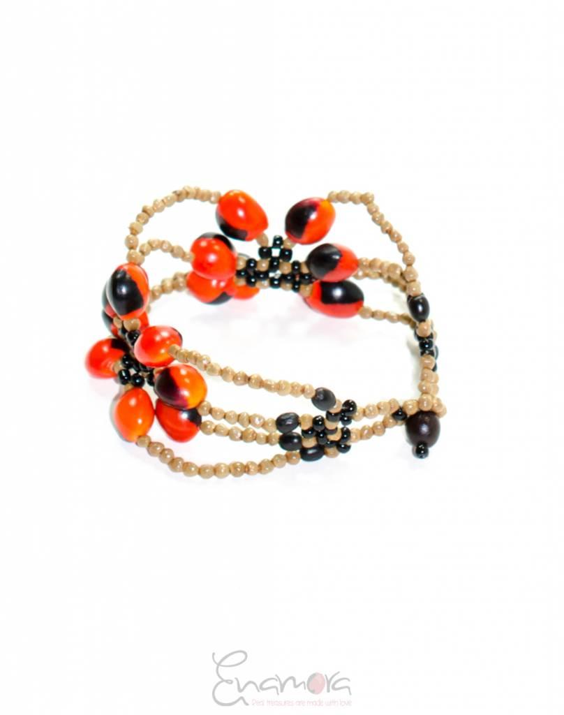 Enamora Huayruro seed bracelet