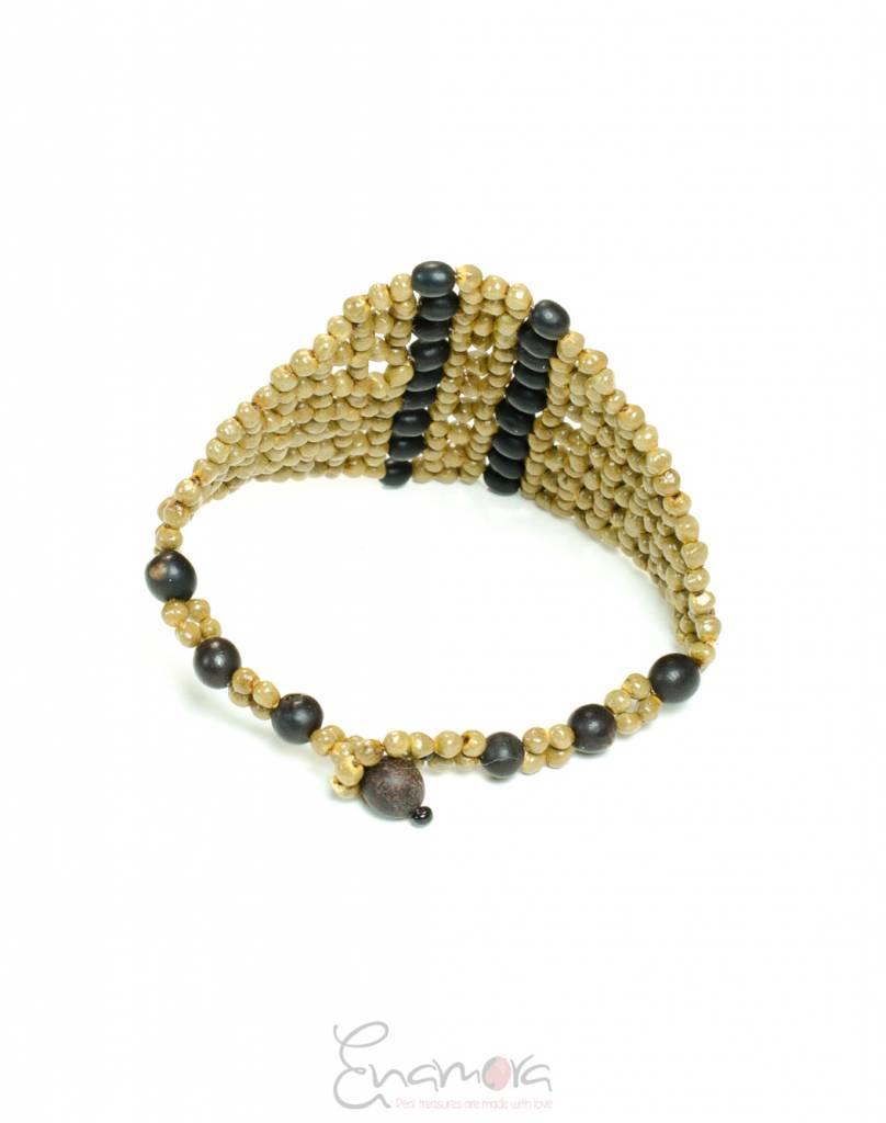 Enamora Beaded natural seed bracelet
