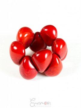 Enamora Tagua Bracelet Red by Maria