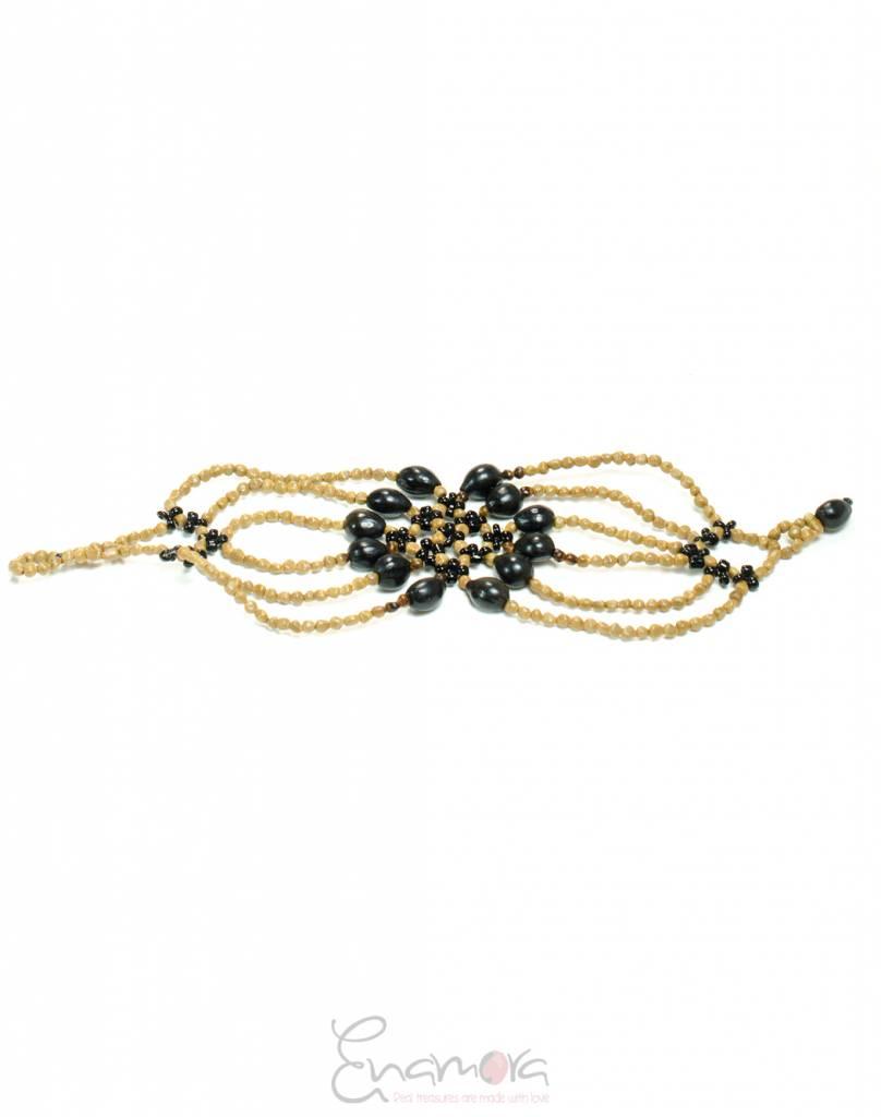 Enamora Black Flower Bracelet
