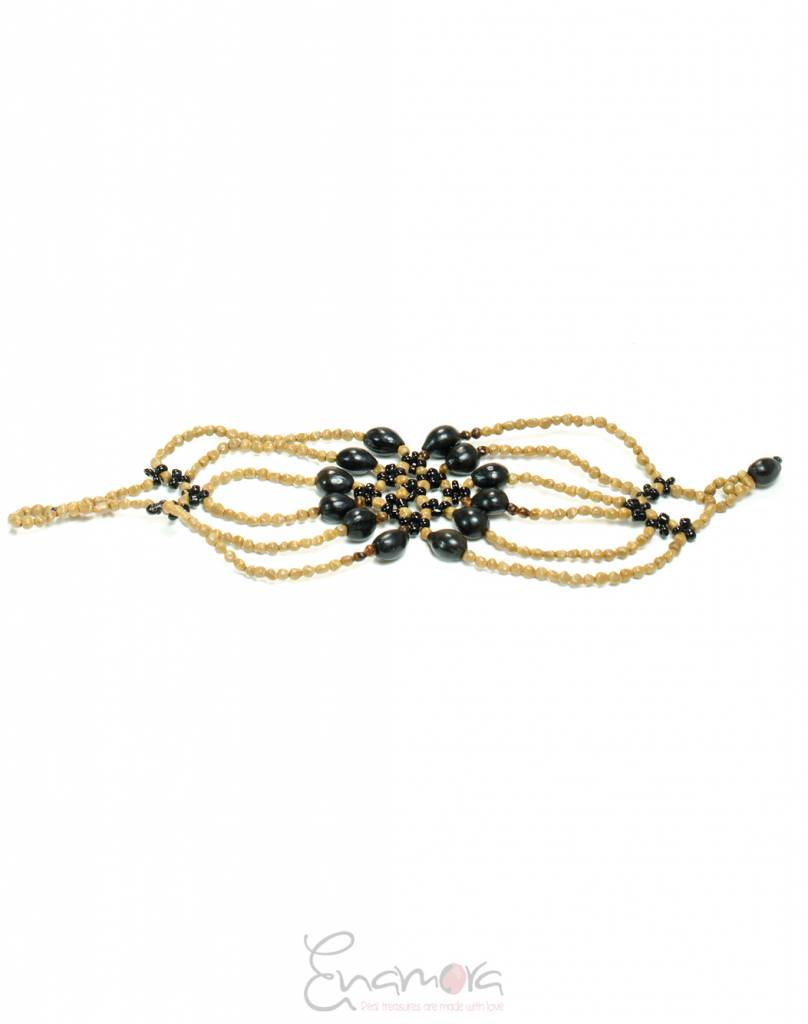 Enamora Zwarte Bloem Armband