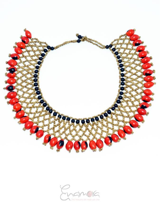 Enamora Huayruro Seed Necklace