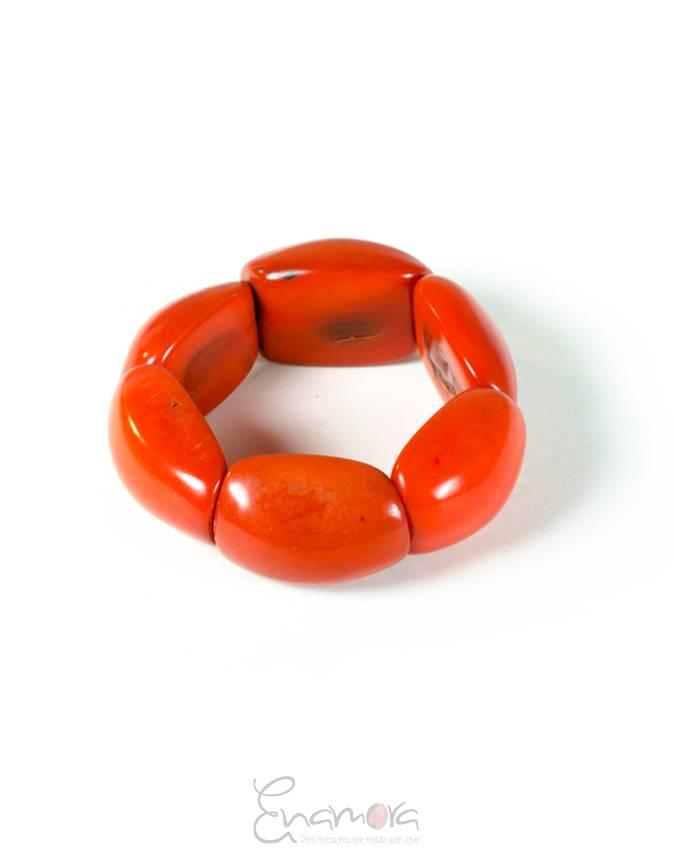 Enamora Tagua Armband Oranje by Maria