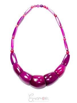 Enamora Purple Tagua Necklace by Maria
