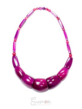 Enamora Purple Tagua Necklace by Maria