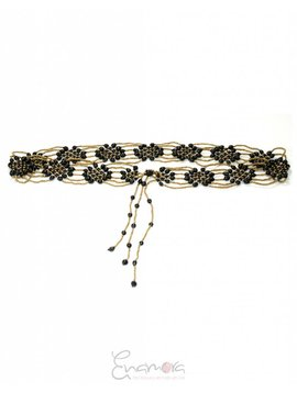 Enamora Black Flower Belt
