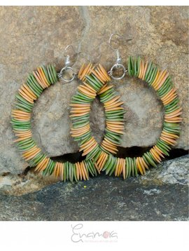 Enamora Melon seed earrings