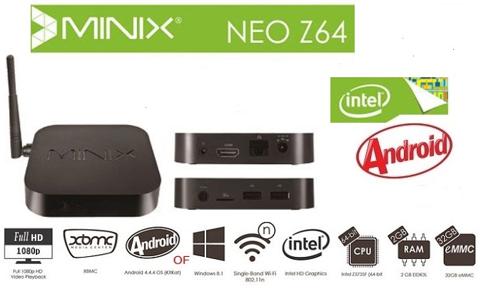 MINIX NEO Z64 Android Kitkat