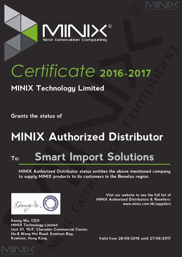 Smart Import Solutions / Distributeur MINIX BENELUX