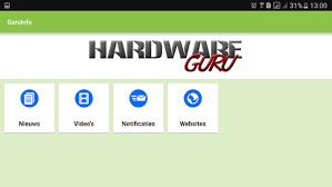 HardwareGuru info app. Gratis in de Google Playstore en Apple Store