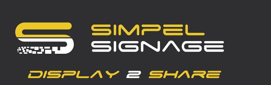 Simpel Signage Display 2 Share