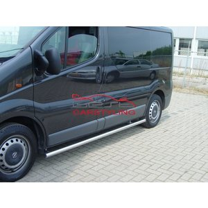 Renault Renault Trafic|Opel Sidebars rechte buis zonder plaat (set van 2 stuks)