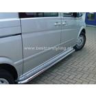 Mercedes-Benz Vito W639 (na 2003) Sidebars buis 60 mm met aluminium trede (set van 2 stuks)