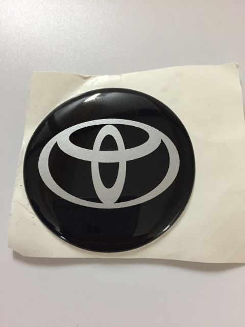 toyota logos naafstickers siliconen flexibel 57 mm