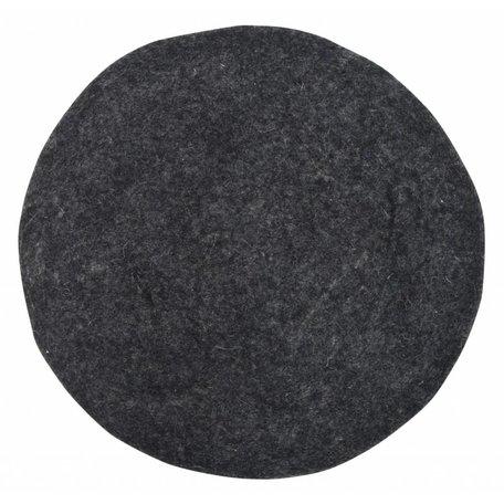 Stuhlkissen Filz schwarz