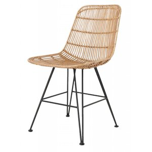 HKliving Dining Chair Rattan natural