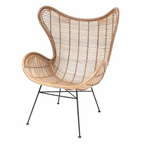 HKliving Chair Egg Rattan natural