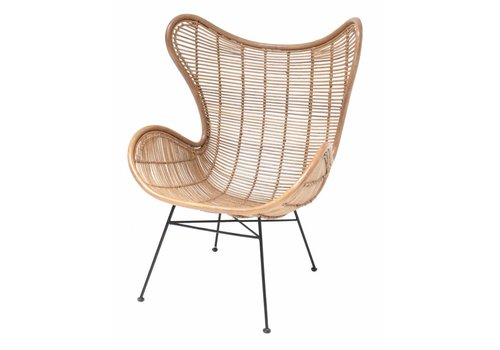 HKliving Stuhl Egg Rattan naturell