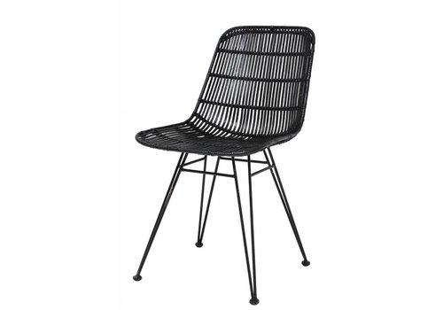 HKliving Dining Chair Rattan black