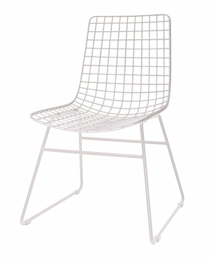 HKliving Wire Chair Metal White
