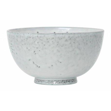 Schale Nachtisch Keramik weiß
