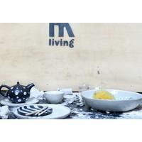 HKliving Schale Nachtisch Keramik weiß